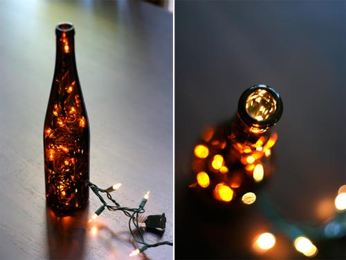 DIY: Wine Bottle Table Lamp - table-lamps