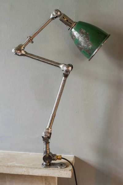 Green anglepoise lamp