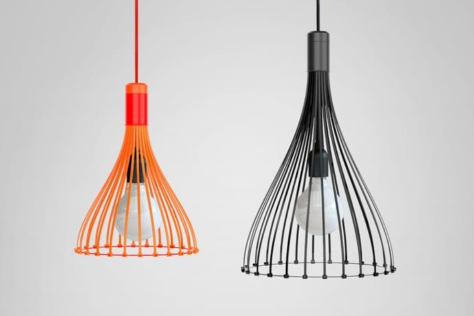 Tied-Up Plastic Pendant Lighting Pendant Lighting