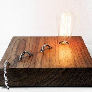 Wood Snake DIY LED Desk Lamp