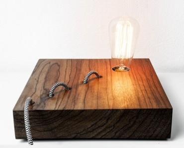 Wood Snake Lamp