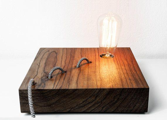 Wood Snake DIY LED Desk Lamp - wood-lamps, desk-lamps