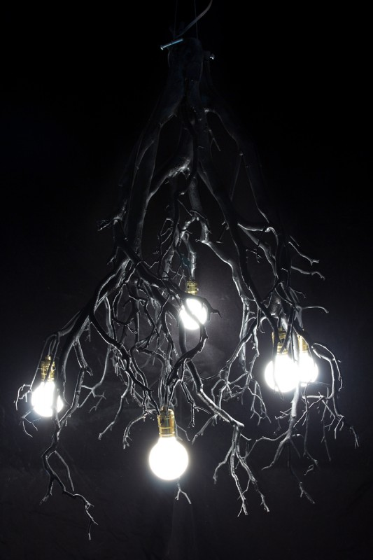 Wood Tree Branch Sculptural Lighting2