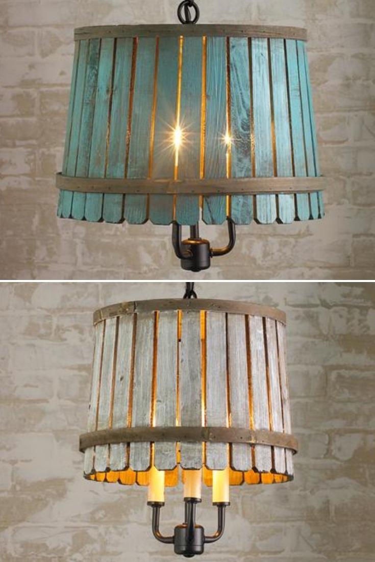 Bushel Basket Lantern Pendant Lighting - wood-lamps, pendant-lighting