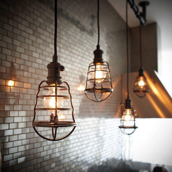 Light Aged Bronze Cage Pendant Lightings Vintage Lamps
