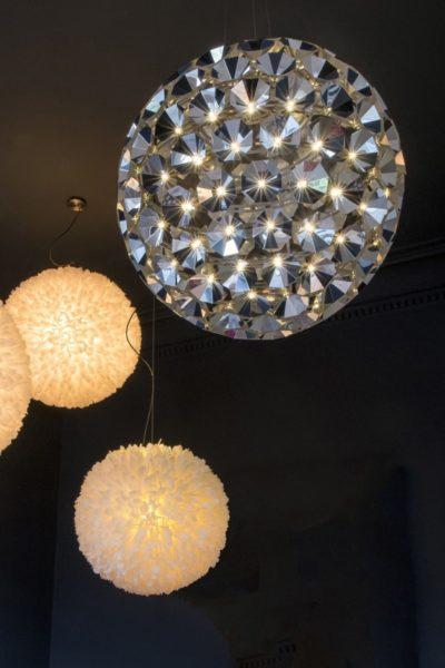 Satellite shaped-lamp