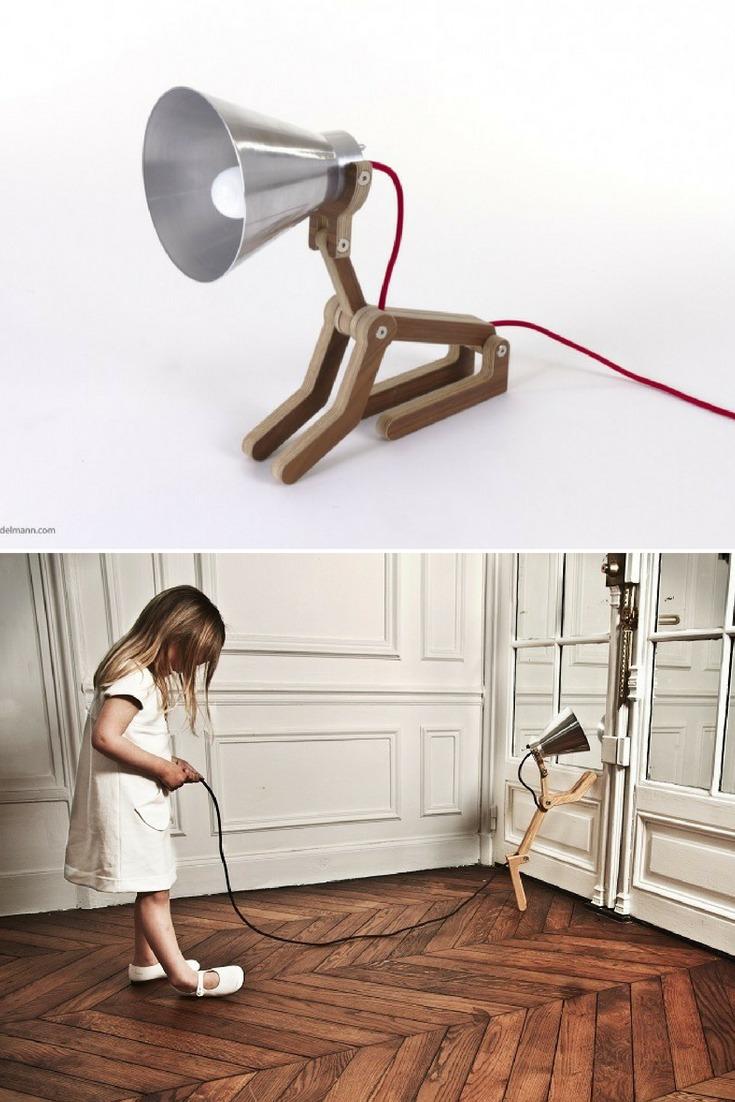 Waaf Wood Desk Lamp