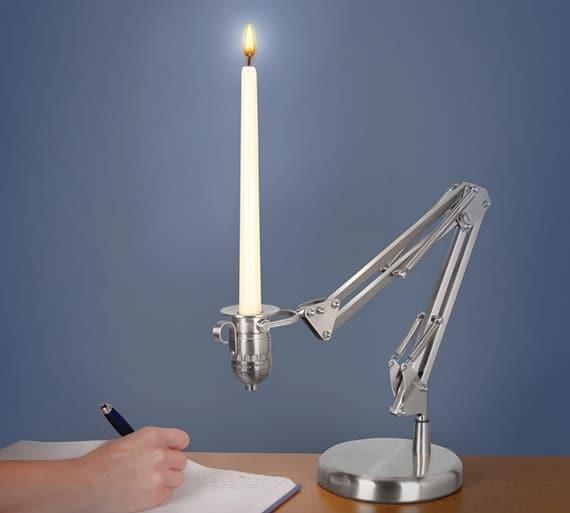 Candle Poise Desk Lamp - desk-lamps