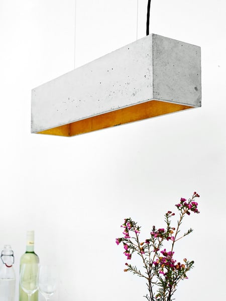 Concrete Beam Pendant Lighting - wood-lamps, restaurant-bar, pendant-lighting