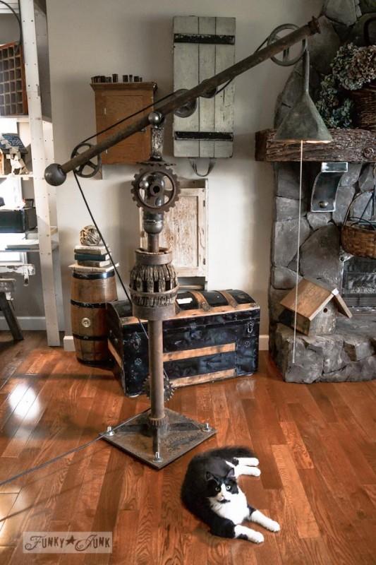 DIY Vintage Big Floor Lamp
