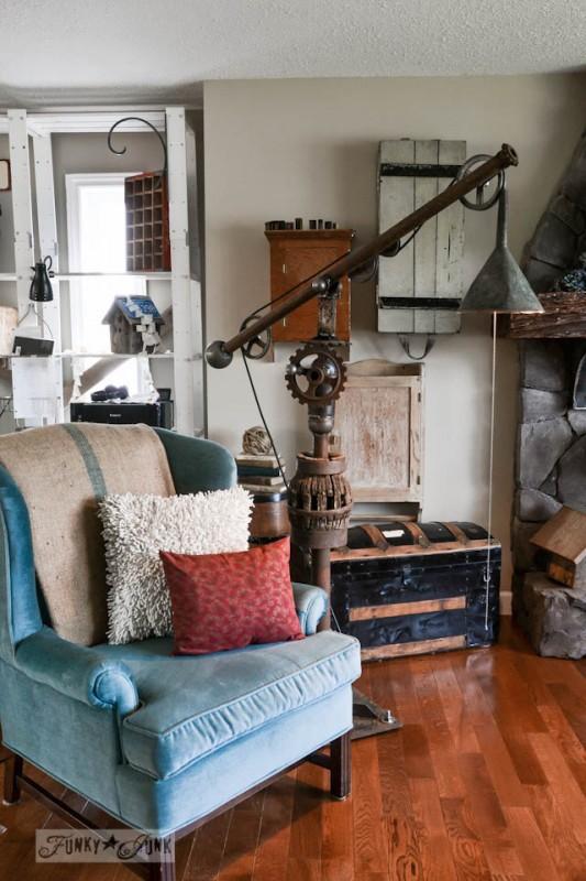 DIY Vintage Big Floor Lamp - floor-lamps