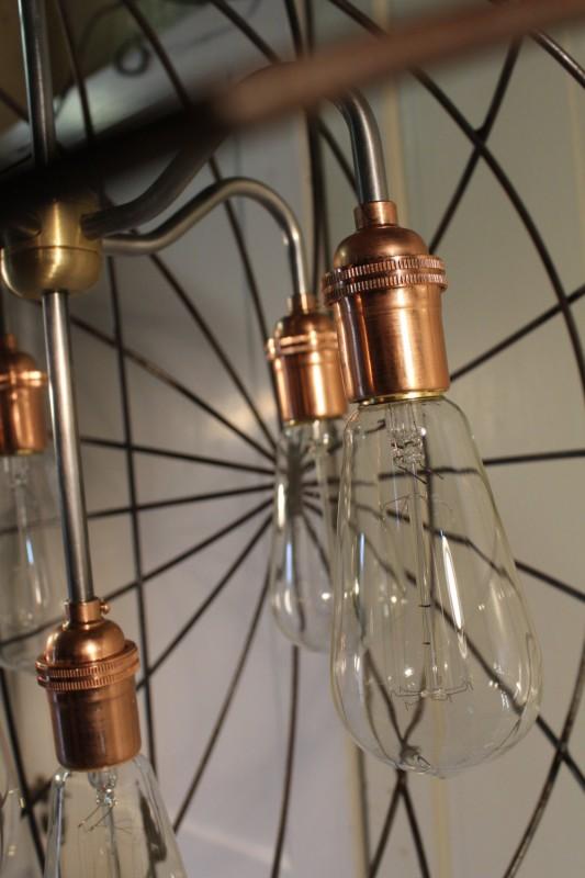 Orb Chandelier Industrial Sphere - pendant-lighting