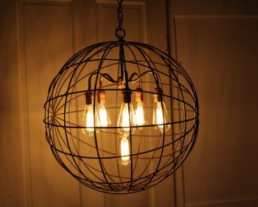 Orb Chandelier Industrial Sphere