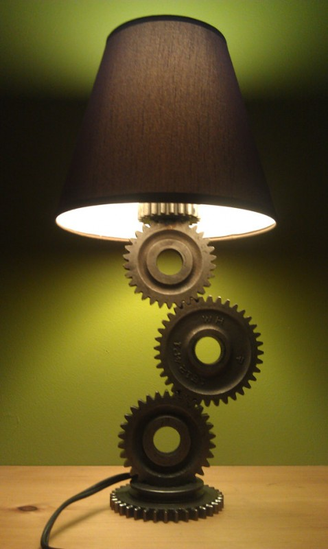 Simple Gear Industrial Table Lamp Id Lights