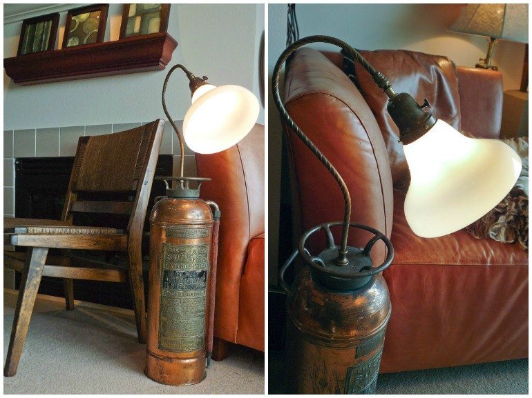 Fire Extinguisher Antique Floor Lamp - floor-lamps