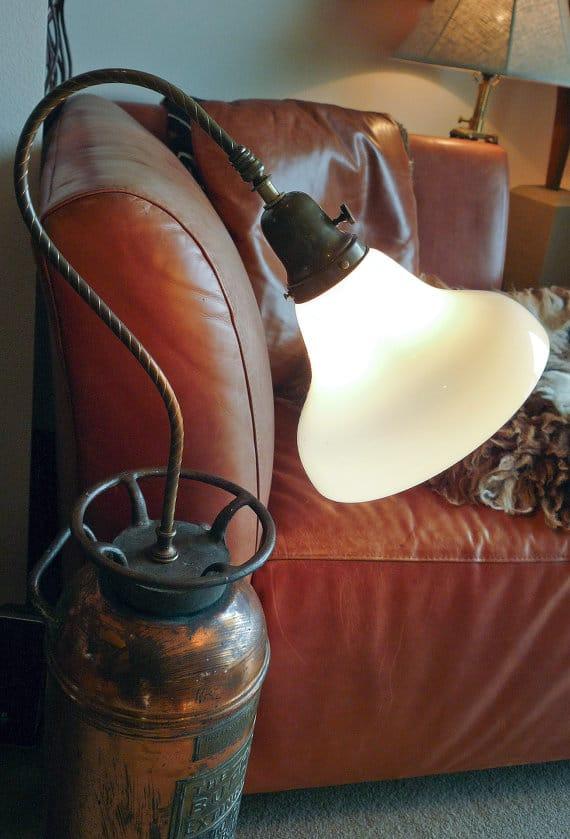 Fire Extinguisher Antique Floor Lamp