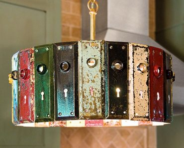 Antique Key Plate Pendant Light