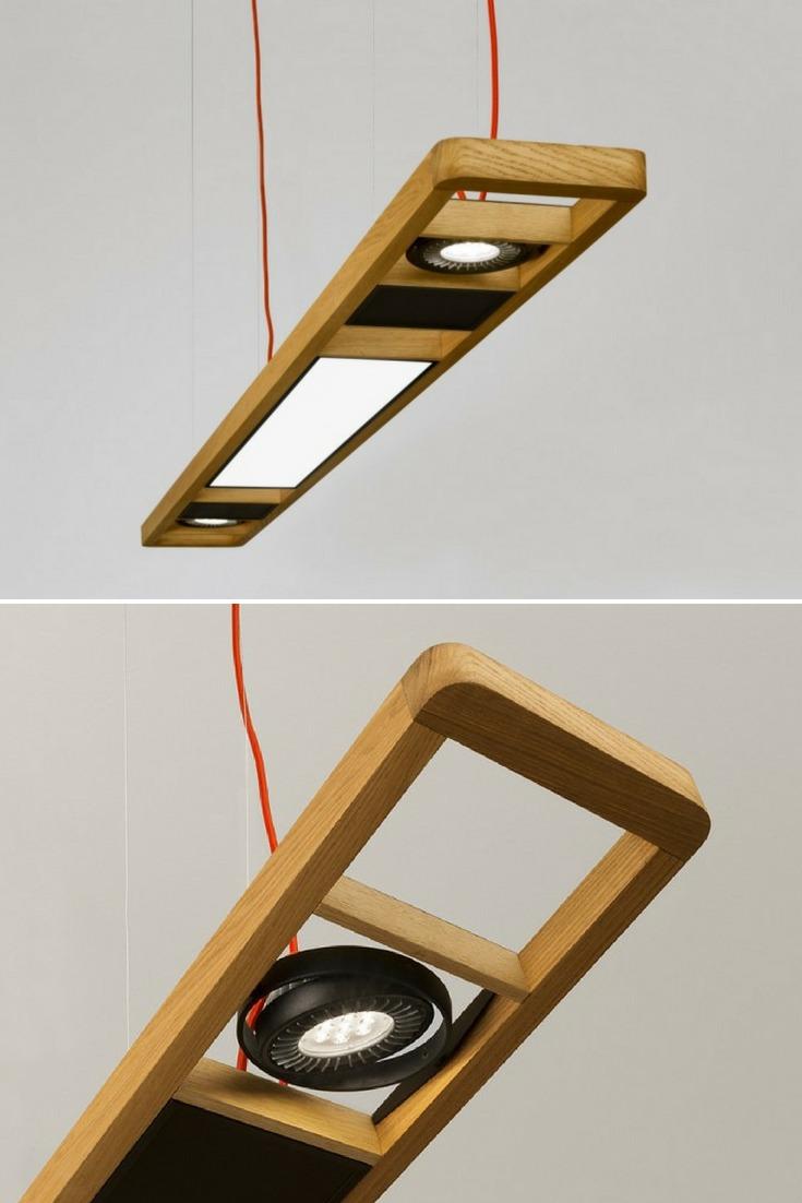 Arbo Wood and LED technology Pendant Lighting