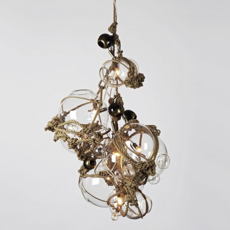 Knotty Bubbles Chandelier - restaurant-bar, pendant-lighting