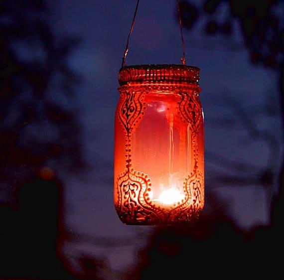 Mason Jar Recycled Lanterns Pendant Lighting