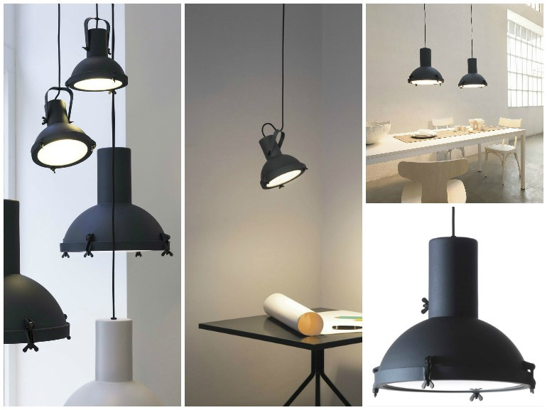 Matt Black Projecteur Modern Pendant Lighting - pendant-lighting