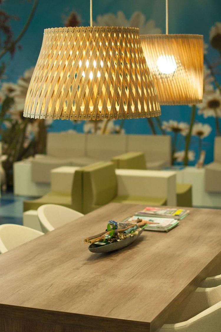 Plywood Pendant Lighting