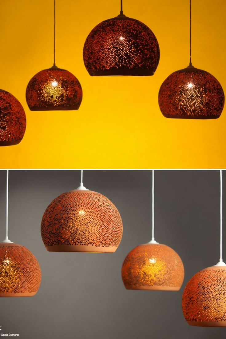 SpongeUp! is an hand crafted ceramic light made with natural materials by Pott. Founded by Miguel Angel García Belmonte, Pott is a Spanish design company that applies traditional pottery techniques and natural materials to contemporary lighting design. #concept #lamp #lighting #lightingdesign #modernlighting #pendantlamp
