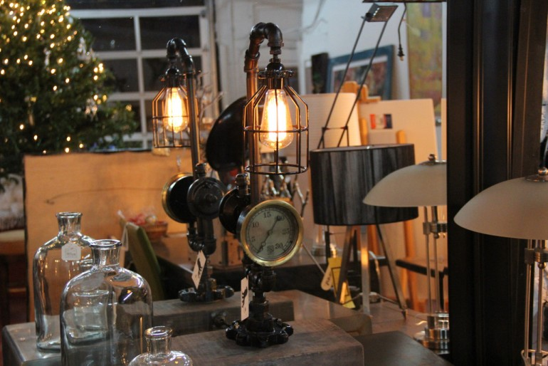 Steam Pipe Industrial Table Lamp - table-lamps