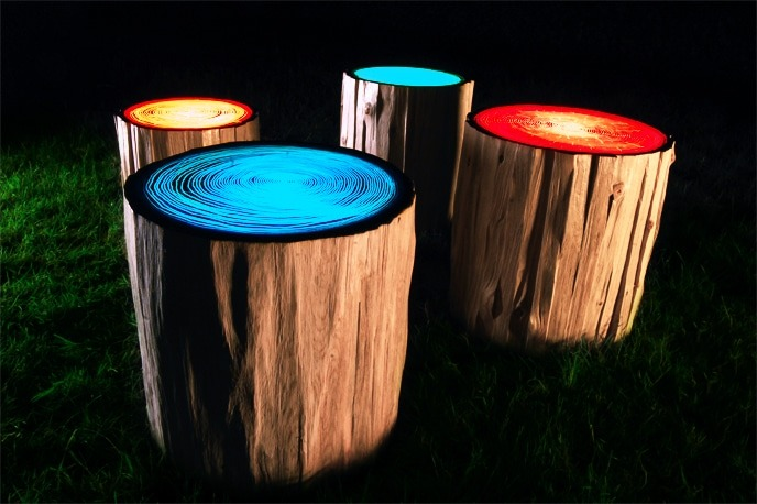 Tree Rings Outdoor Lighting Outdoor Lighting Wood Lamps