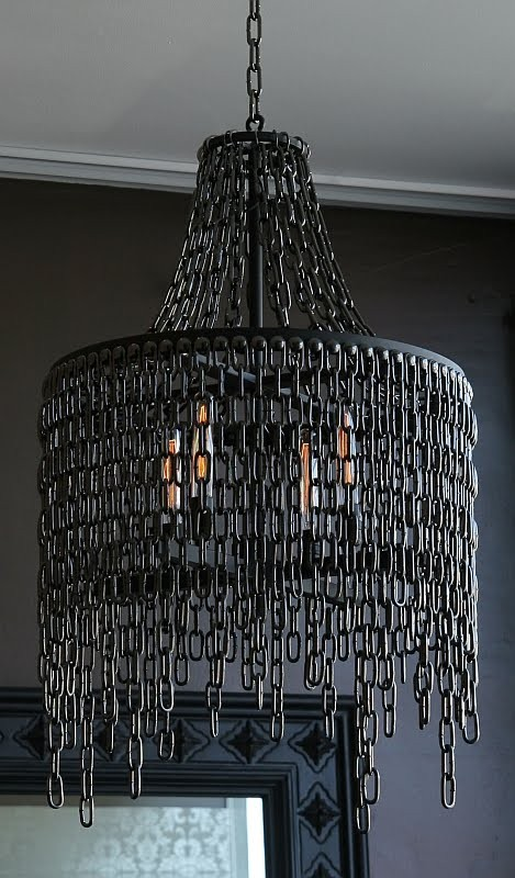 Victoria in Chains Chandelier - pendant-lighting