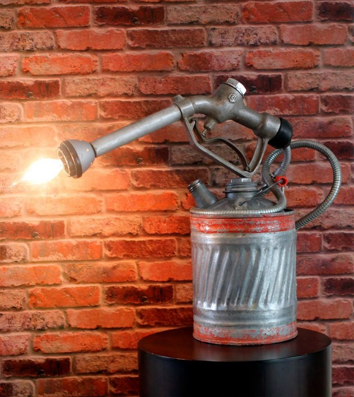 Vintage Upcycled Gas Can and Blowtorch
