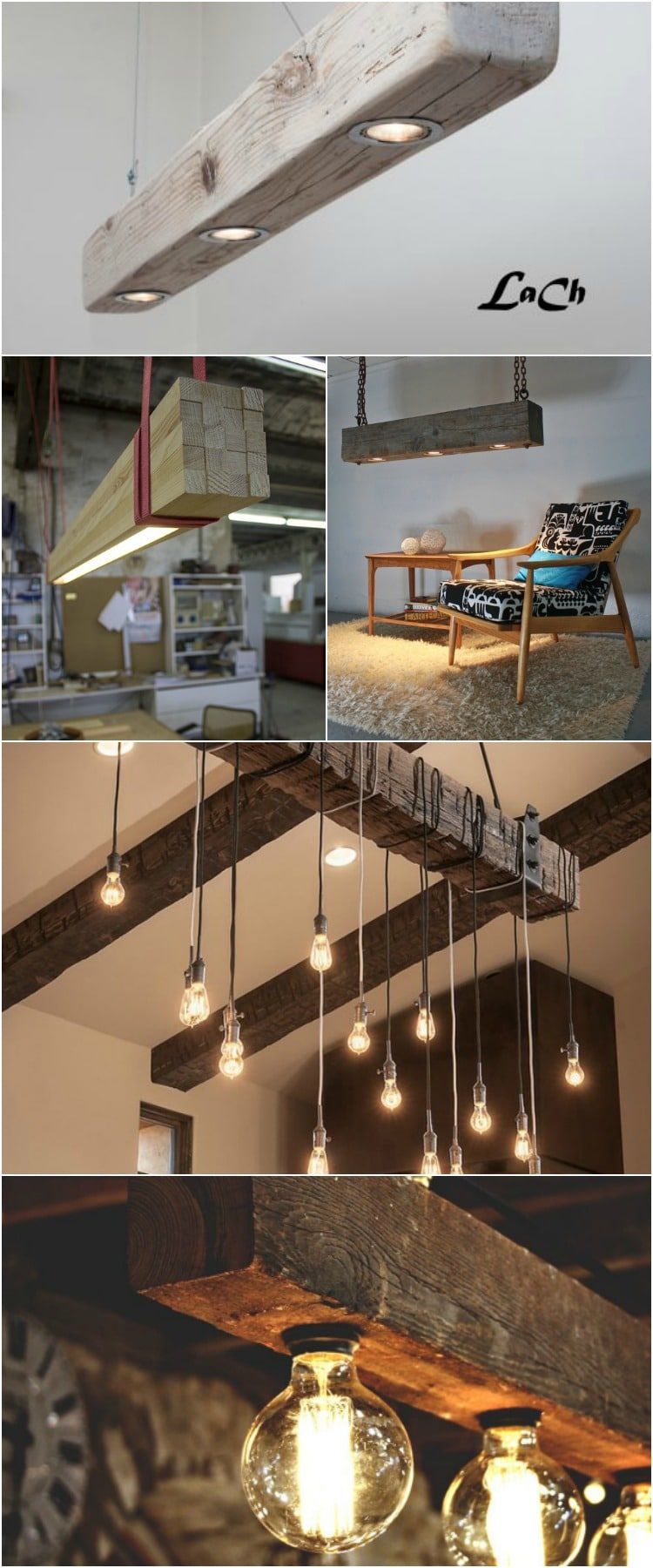 Have a look at these reclaimed wood beams chandelier ideas. Great in a vintage interior or even a kitchen, perfect for a rustic vintage lamp as modern farmhouse lighting! #beam #rustic #chandelier #vintage #farmhouse #farmhousestyle #farmhousedecor #woodworkingprojects #woodworking #idlights
