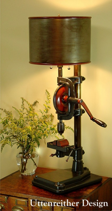 Industrial Drill Antique Table Lamp - table-lamps
