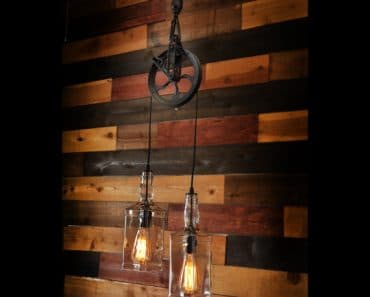Farm Pulley Lamp