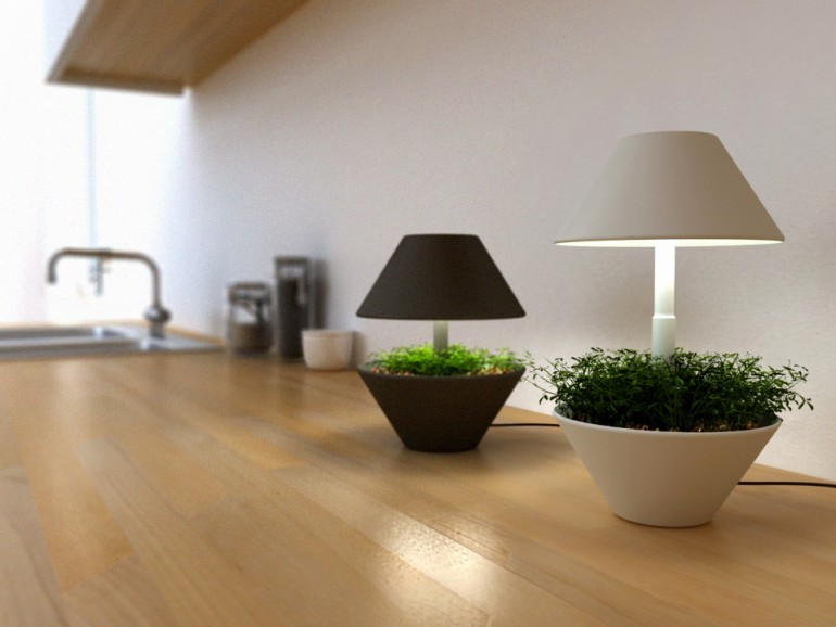 Lightpot: Lighting and Plants Symbiosis Table Lamp Table Lamps