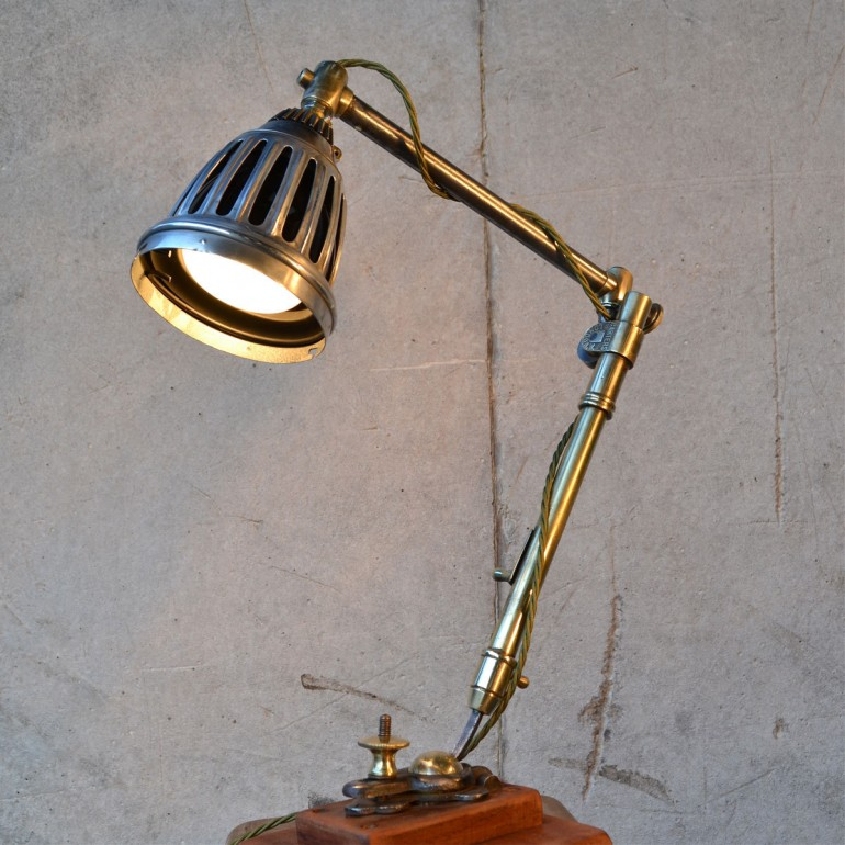 Little Steampunk Rustic Vintage Lamp Desk Lamps
