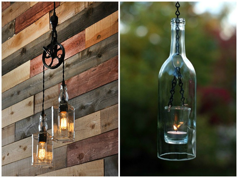 ... to Make a Table Lamp with Old Bottles Pendant Lighting Table Lamps