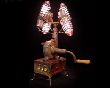 Steampunk Centrifuse Desk Lamp