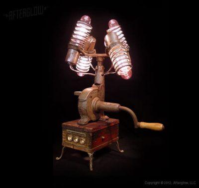 Steampunk Centrifuse Desk Lamp