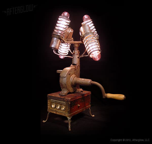 Steampunk Centrifuse Desk Lamp - desk-lamps