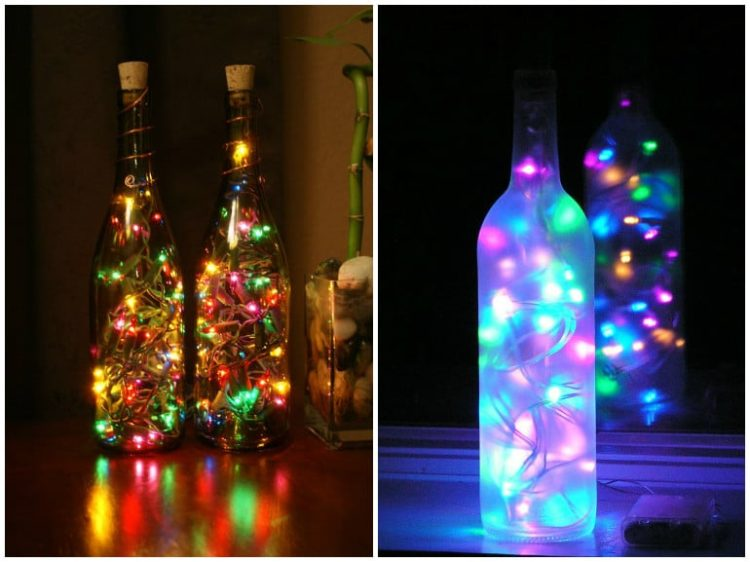 DIY Bottle Lamp: Make a Table Lamp with Recycled Bottles - table-lamps, pendant-lighting