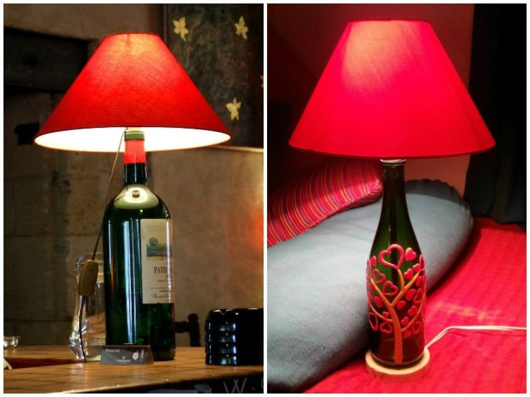 Diy Bottle Lamp Make A Table Lamp With Recycled Bottles