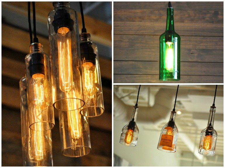 DIY Tutorial Guide To Make A Lamp With Old Bottles