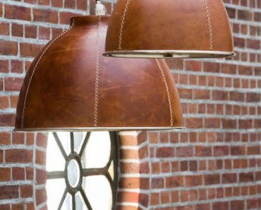 Classy Leather Hanging Lamp