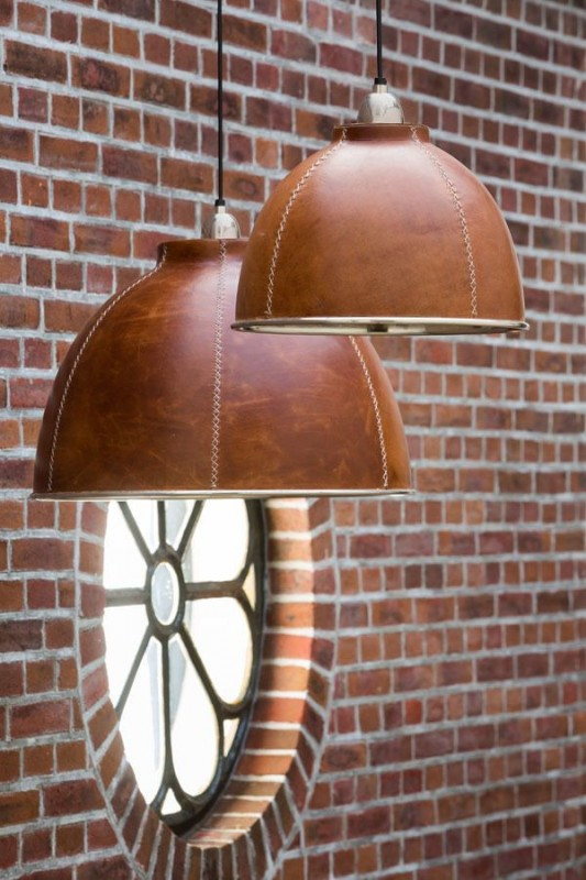 Classy Leather Pendant Lighting - pendant-lighting