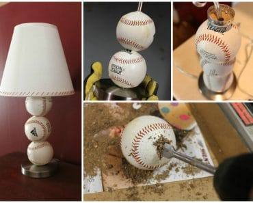 DIY Baseball Table Lamp
