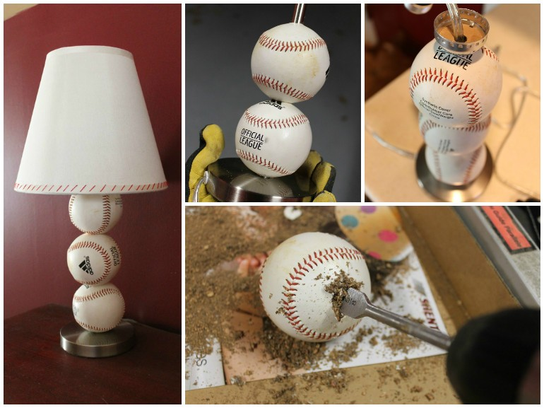 perfect cheap gift for baseball lovers diy baseball table lamp table lamps - Baseball Lamp