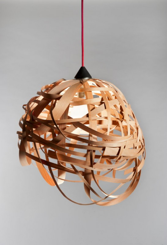Nest Veneer Wood Light Fixture - wood-lamps, pendant-lighting