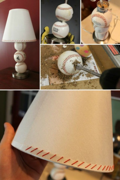 Perfect Cheap Gift for Baseball Lovers: DIY Baseball Table Lamp