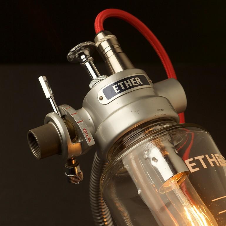 Vintage Ether Anesthesia Vaporiser Desk Lamp - desk-lamps